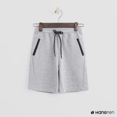 Hang Ten -童裝 - 拉鍊口袋造型運動短褲 - 灰