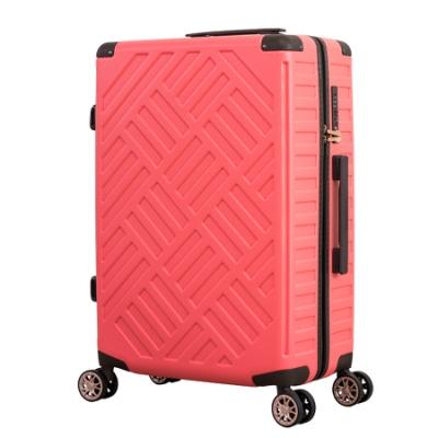 日本 LEGEND WALKER 5204-59-24吋 PP輕量行李箱 珊瑚橘