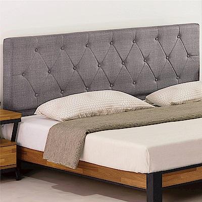 綠活居 奧維亞6尺耐磨亞麻紋皮革雙人加大床頭片(不含床底)-183x13x106cm免組