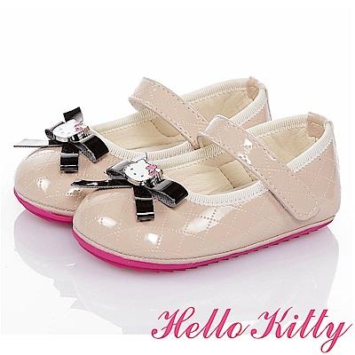 (雙11)HelloKitty 氣質手工款超纖寶寶學步鞋童鞋-米