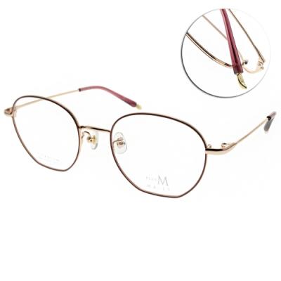 MA-JI MASATOMO 眼鏡  多邊形文藝款/桃紅-玫瑰金#PMJ511 COL1