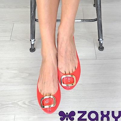 Zaxy 巴西 女 POP CHARM 魅力都會娃娃鞋 (珊瑚紅)