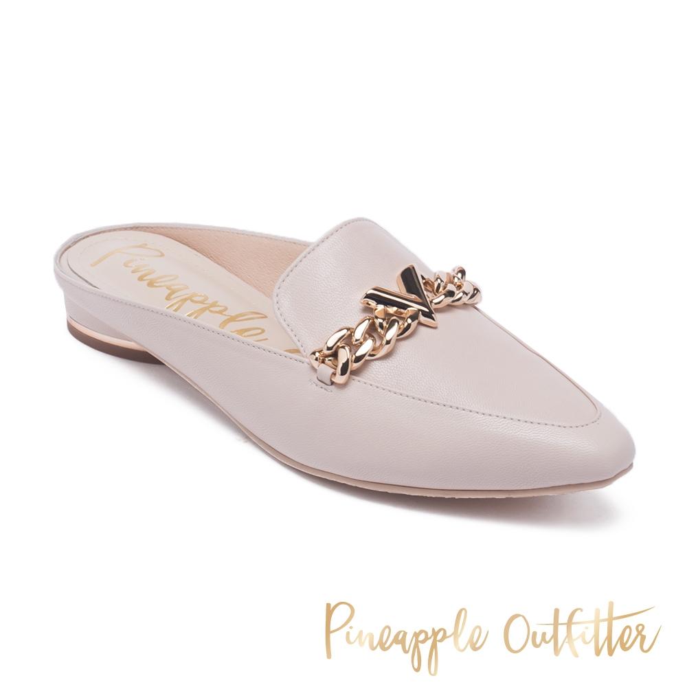 Pineapple Outfitter-RIVIERA羊皮穆勒懶人拖鞋-米杏色