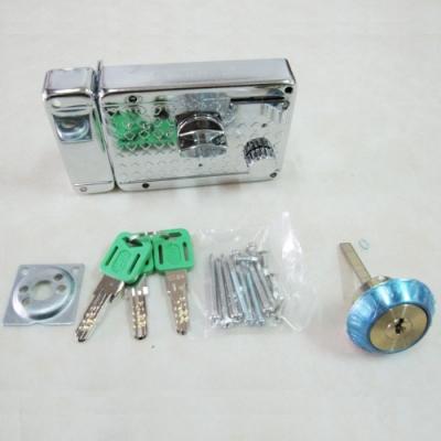 LI005 BIRD 分離式三段鎖 單開電白 三段鎖 鍍鉻三段鎖 隱藏式門鎖 輔助鎖補助鎖