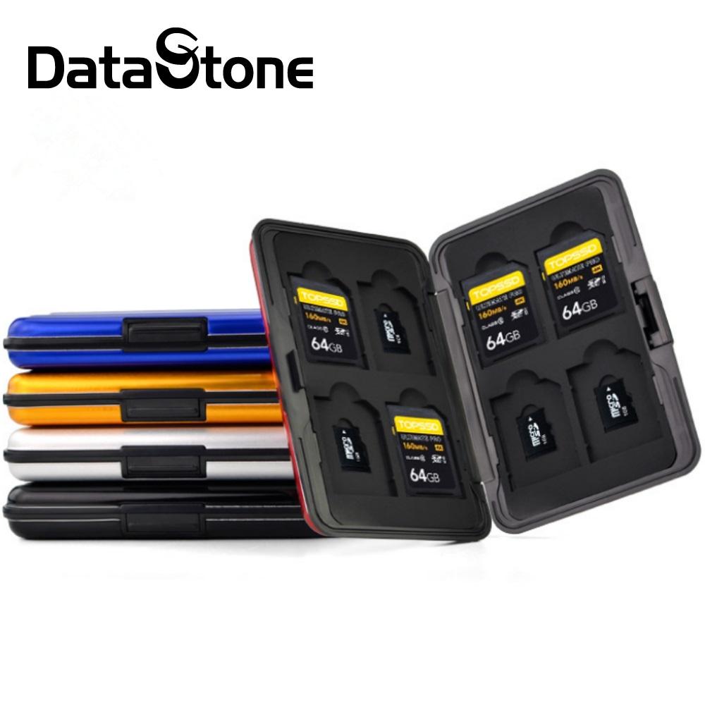 DataStone 防震型 晶鑽系列 16片裝(8SD+8TF) 鋁合金記憶卡收納盒