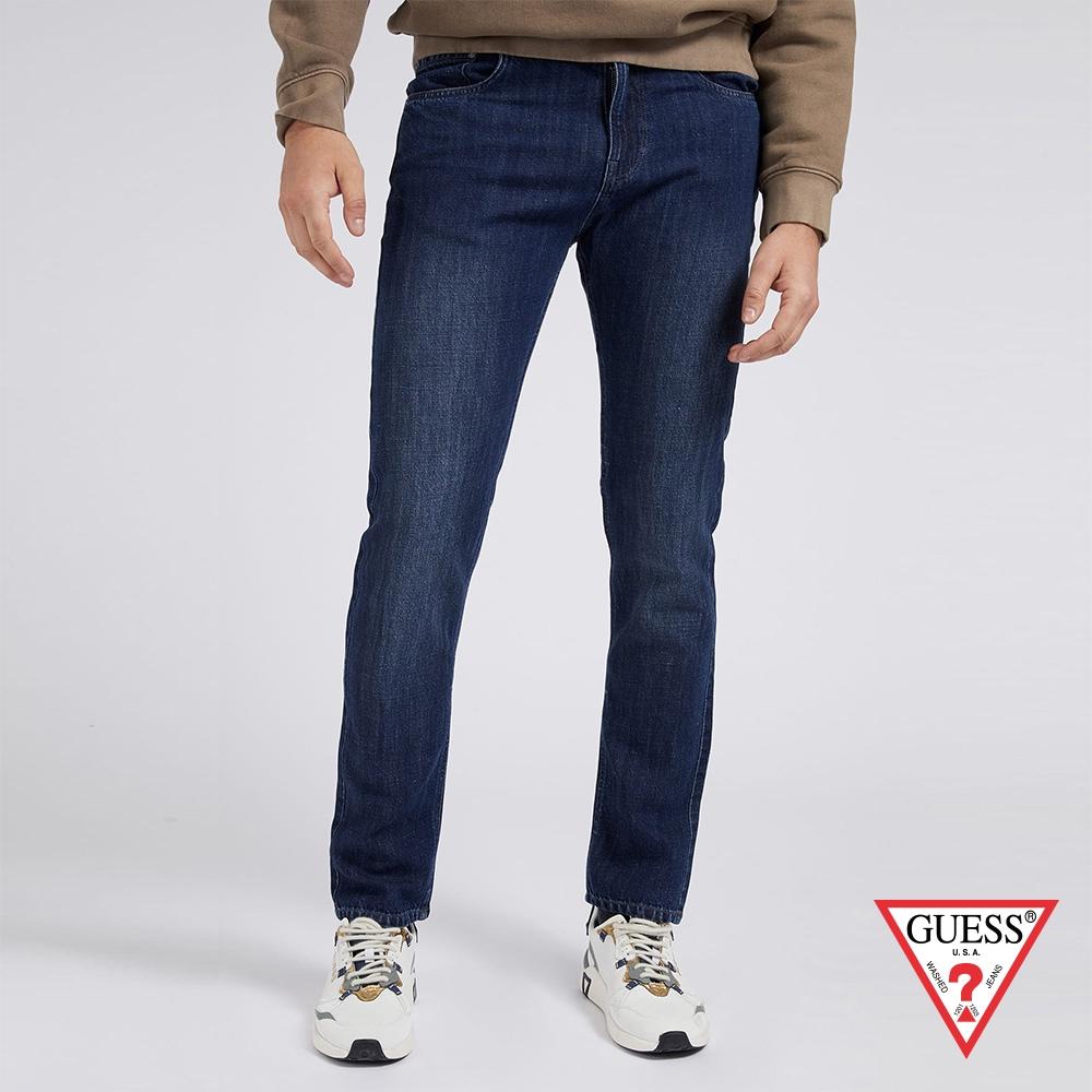 GUESS-男裝-原色修身直筒牛仔褲-藍 原價2990