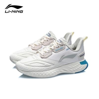 LI-NING 李寧 雲五代SHIELD減震系列慢跑鞋 蛋奶灰/雲雨灰/黃灰色 男款(ARHQ243-2)