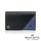 【總代理 BRAUN BUFFEL德國小金牛】MRMR信用卡夾-時尚黑/BF330