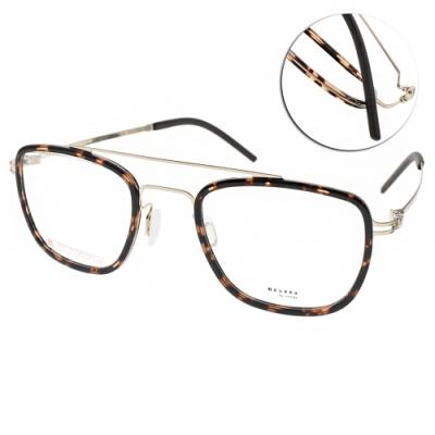 VYCOZ眼鏡 DURRA系列 薄鋼 復古雙槓款 /琥珀金 #DR9201 GOLD-H