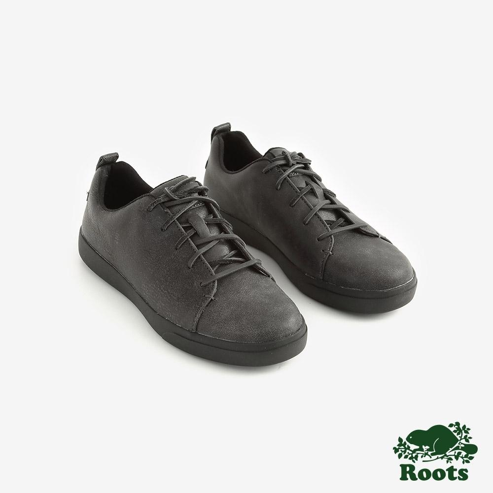 ROOTS女鞋- 派克皮革網球鞋 -黑
