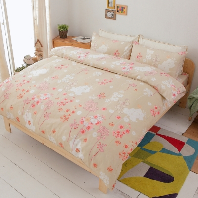 Goelia 芳草馨 加大四件式鋪棉兩用被床包組