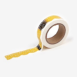 Dailylike 單捲紙膠帶 - 49 金色蕾絲