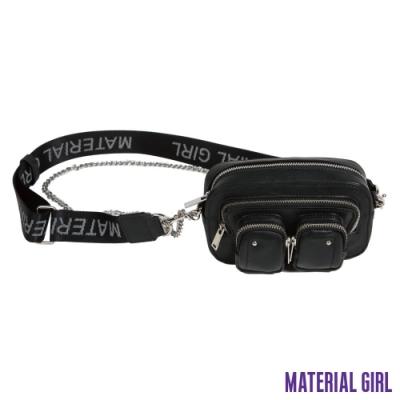 MATERIAL GIRL 黑色雙口袋腰包【A21038】