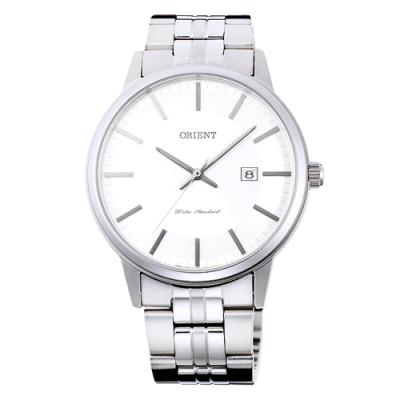 ORIENT東方錶 PAIR質感時尚男錶手錶-FUNG8003W-白X銀/40mm