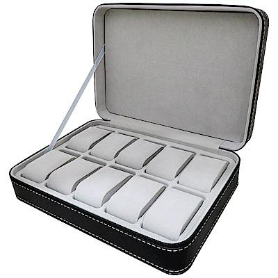 PARNIS BOX│旅行拉鍊包手錶收藏盒【10只入】PU皮革 (皮革09)