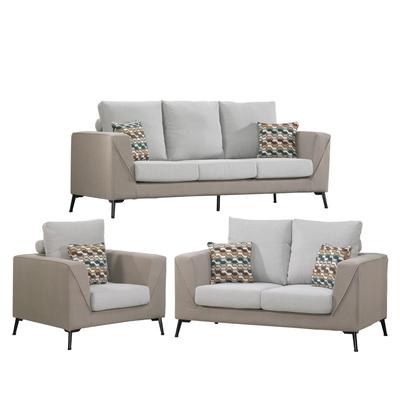 文創集 阿爾澤  時尚雙色可拆洗棉麻布獨立筒沙發椅組合(1+2+3人座)-207x87x92cm免組
