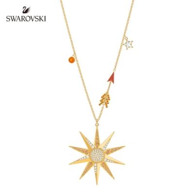施華洛世奇 Lucky Goddess Star 金色夢想之星項鏈