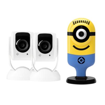 tend 人臉辨識無線監控攝影機【2入】+小小兵高清無線上網監控攝像機【1入】(不挑款)