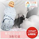 台灣精製聰明/安心包巾(天空藍)