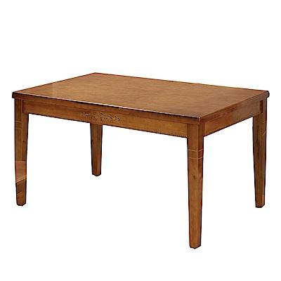 綠活居 溫莎時尚4.5尺木紋餐桌(二色可選)-135x84x75cm-免組