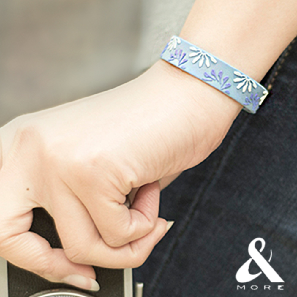 &MOREx印花樂 健康能量手環(烏秋圈圈)