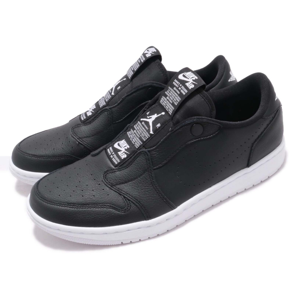 Nike 休閒鞋 W Air Jordan 1代 女鞋 喬丹 飛人 AJ1 低筒 免鞋帶 情侶鞋 黑 白 AV3918001