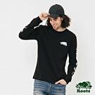 男裝Roots- 雙臂圖案長袖T恤-黑