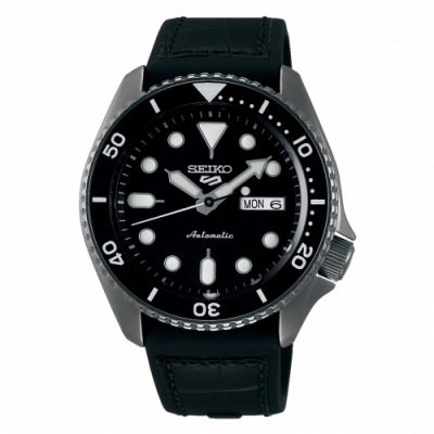 SEIKO 5sport運動潮流機械腕錶/黑色皮帶4R36-07G0X(SRPD65K3)
