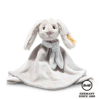 STEIFF德國金耳釦泰迪熊  Hoppie Rabbit Comforter  灰色小兔子(嬰幼兒安撫巾)