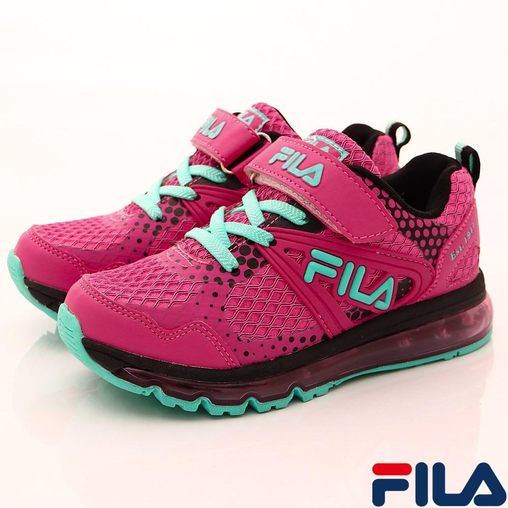FILA頂級童鞋 氣墊運動款 FO15R-266桃綠(中大童段)C