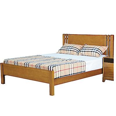 文創集 賈瑟時尚5尺實木雙人床架(不含床墊)-154x200x100cm免組