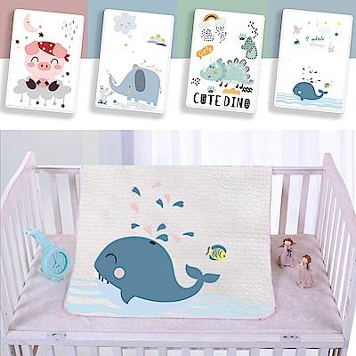 【優貝選】純棉童趣寶寶隔尿墊 透氣防水墊 生理期產褥墊 老人護理保潔墊