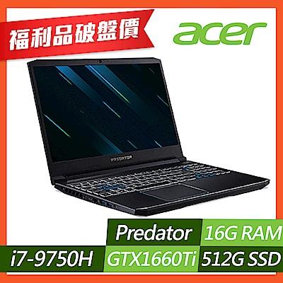 Acer PH315-52-79DZ 15吋筆電(i7-9750H/GTX1660Ti/16G/512G SSD/Predator/黑/福利品)