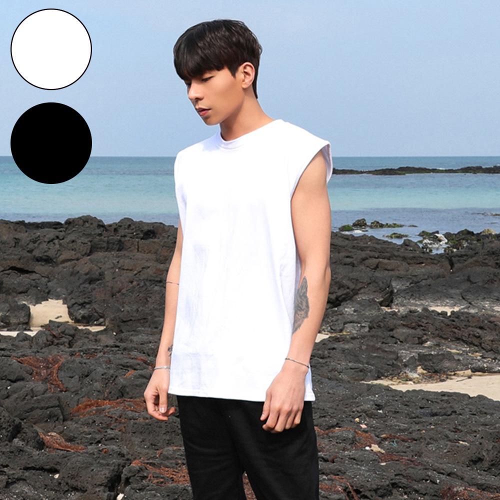 男人幫T1636*台灣製造純棉帥氣無袖T恤