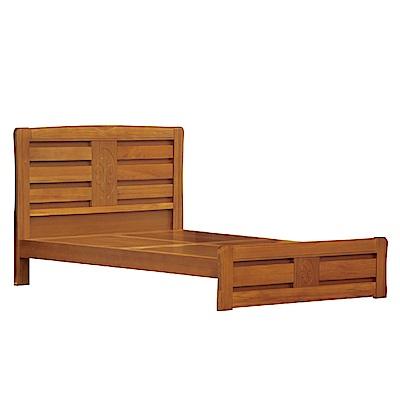 綠活居 波亞利時尚5尺實木雙人床台組合(不含床墊)-154.5x195.5x106cm免組