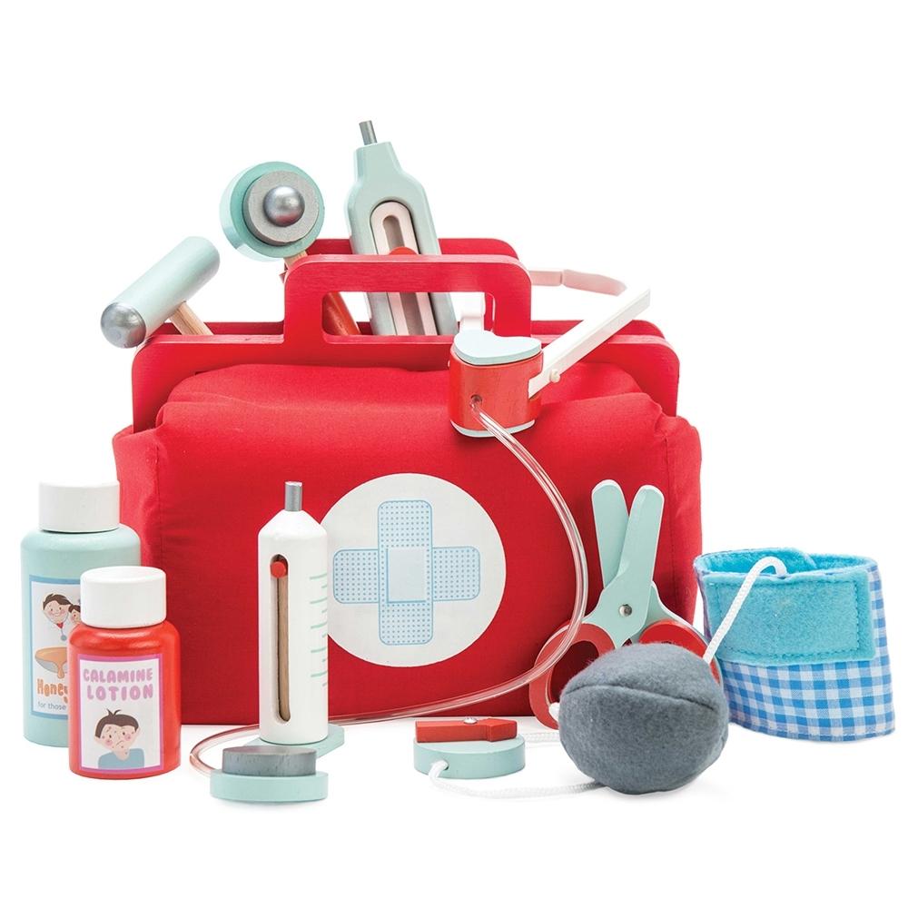 英國 Le Toy Van 角色扮演系列-小醫師診療玩具組