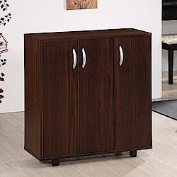 《HOPMA》DIY巧收三門五層鞋櫃-寬76 x深30.3 x高80.6cm