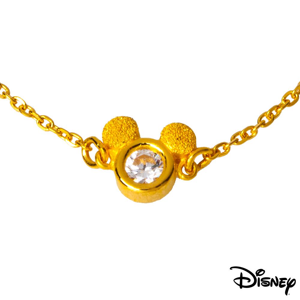Disney迪士尼系列金飾 黃金手鍊-閃亮米奇