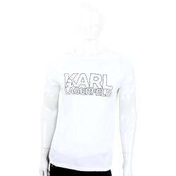 KARL LAGERFELD LOGO字母系列白色棉質T恤(男款)