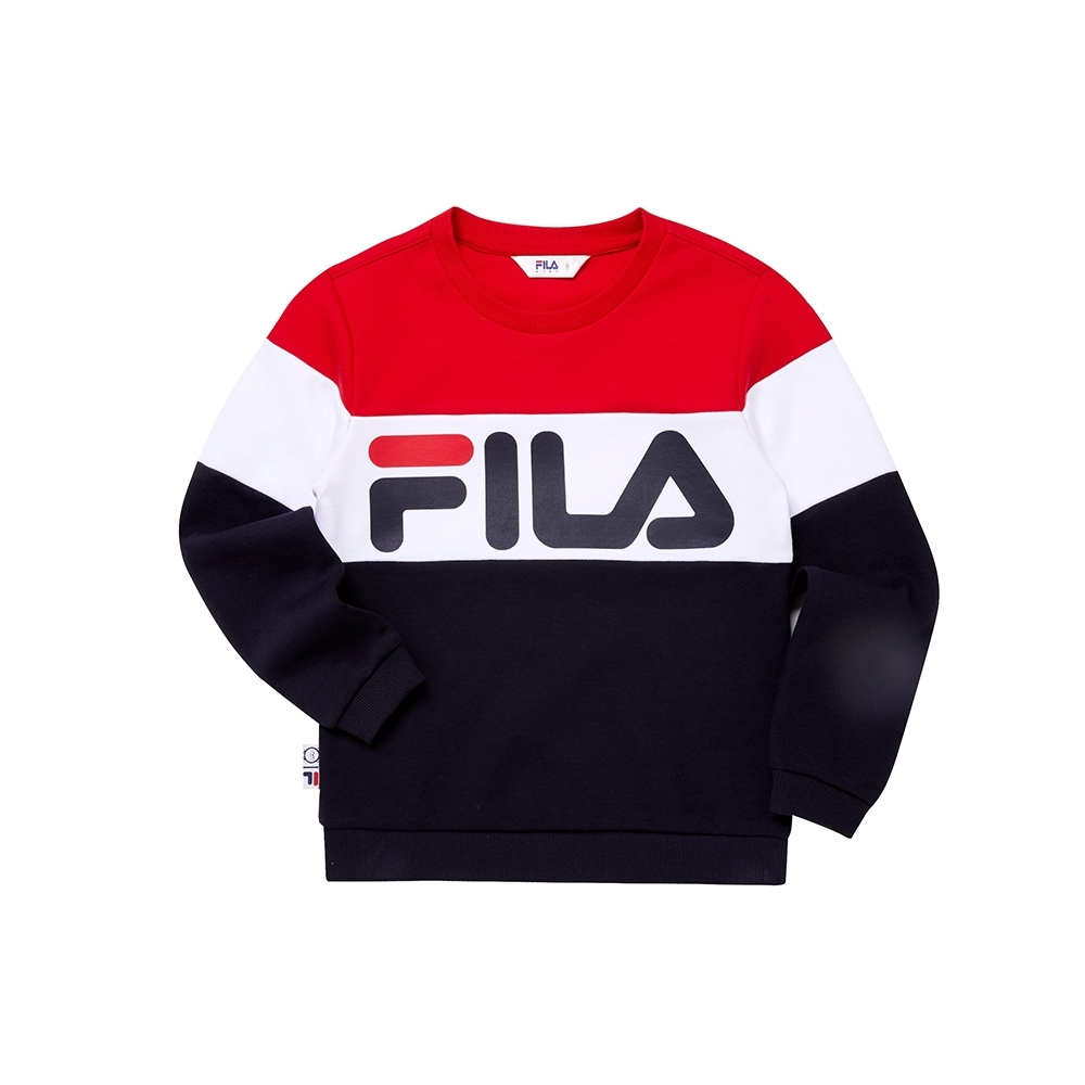 FILA KIDS WONNIE FRIENDS 童長袖上衣-丈青 1TEU-4507-NV product image 1