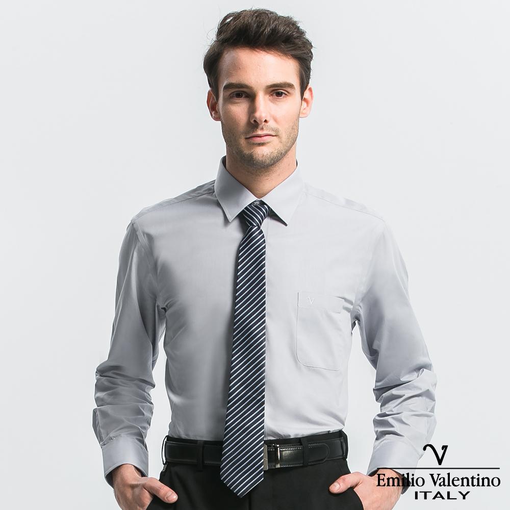 Emilio Valentino 范倫提諾都會經典長袖襯衫-淺灰