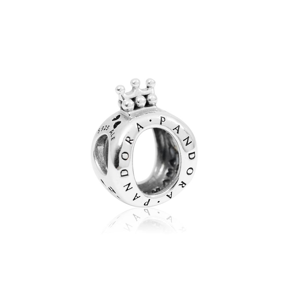 Pandora 潘朵拉 皇冠O字Logo造型 純銀墜飾 串珠