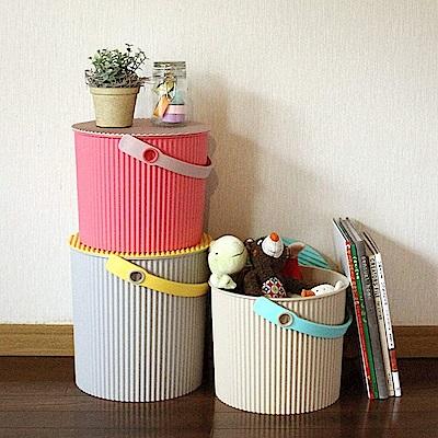 【特惠組】日本優秀設計獎賞 HACHIMAN時尚收納桶(大+中)