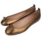 TOD'S 金屬單結飾芭蕾平底鞋(古銅金)