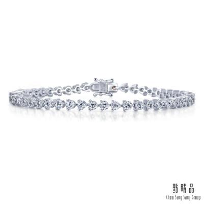 點睛品 閃耀2克拉滿鑽 18K金鑽石手鍊
