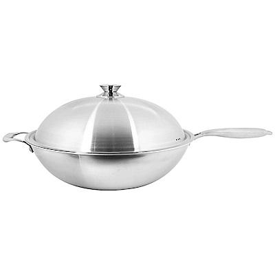 清水 316不鏽鋼複合金炒鍋/平底炒鍋不鏽鋼把手40cm