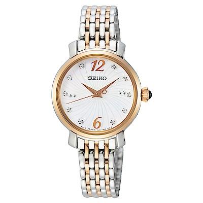 SEIKO精工 閃耀晶鑽時尚手錶SRZ524P1-半金/28mm