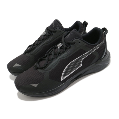 Puma 慢跑鞋 Minima FM 運動 男女鞋 輕量 透氣 舒適 避震 路跑 健身 情侶 黑 銀 19400101