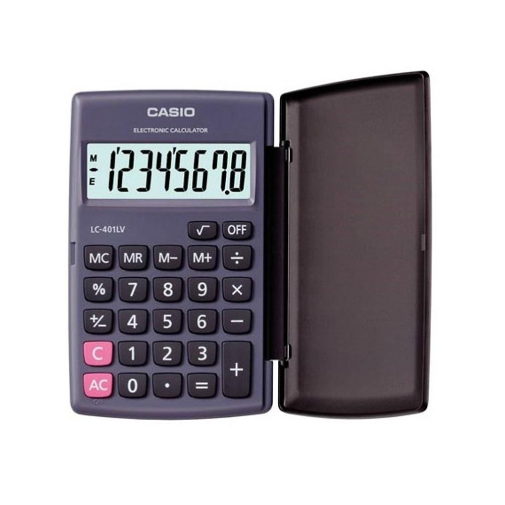 CASIO卡西歐-8位數攜帶式國考型計算機(LC-401LV-BK)