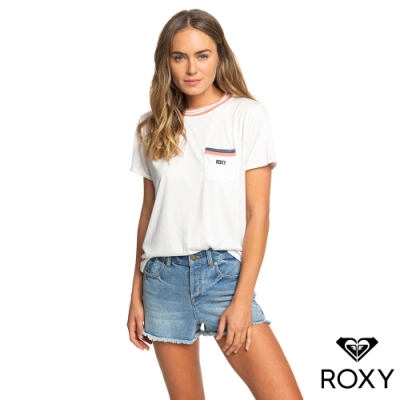 【ROXY】UNDER THE VANILLA SKY  B 絲質T恤 白